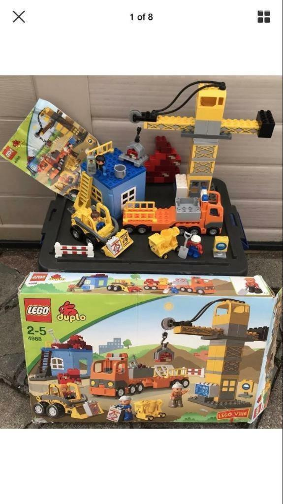 Lego Duplo 4988 Huge Construction Building Site Boxed Instructions