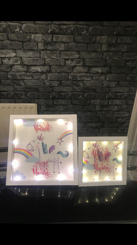 Unicorn loves take a look light up bottles and frames | in Leicester ...