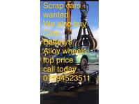 Scrap cars wanted 07794523511 any vehicle wanted pick up same day top price payed