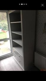2 Drawer Storage Bookcase InGrey