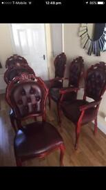 Italian leather chairs with a table (NOT FREE, want OFFERS)
