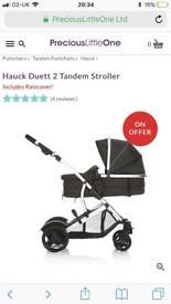 Hauck 2 tandem double buggy