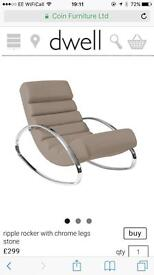 Brand new Dwell rocking chair in Stone