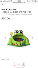 Pop and giggle pond pal and peppa play dough new