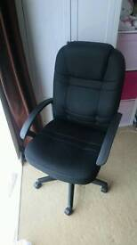 Office desk chair, really comfy and padded