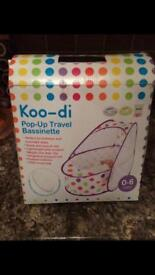 Koo-di pop up crib for baby 0-6 mths