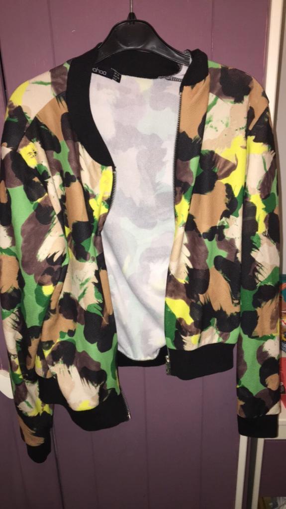 Boohoo Camouflage Zip Jacket