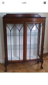 Mahogany Period China Cabinet can deliver