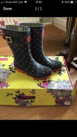 Joules wellies size 7