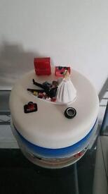 Mechanic scene wedding cake topper