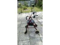 walking frame with seat good condition 15£