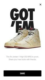 Nike Air Jordan 1 NRG - Nigel Sylvester - uk 9