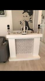 Professionally Made by Joiner Firesurround hearth and back panel