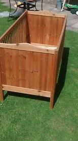 children's cot/ bed with mattress, head/foot boards etc. 0 years to 10+ years