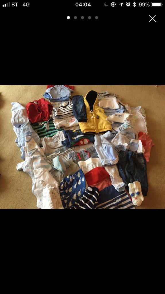 Baby boy 0-3 months clothes bundle 50 items
