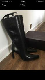 Absolutely stunning brand new ladies Prada black leather boots. Size 36.5 (U.K. Size 3.5).