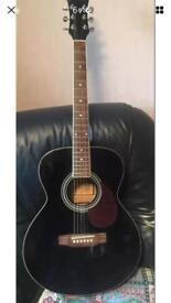 Freshman Black Folk Body Full Size Acoustic Guitar FA1FBK - Great Sounding beginner practice
