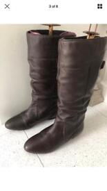 Brown leather boots bhs