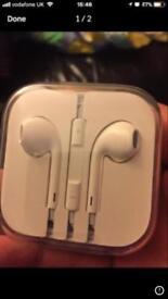 Apple headphones- genuine apple and never opened