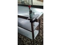 STAINLESS STEEL COMMERCIAL 3 TIER PREPERATION TABLE WITH COMMERCIAL TIN OPENER