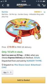 Baby play ring with toys