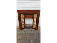 Vintage Cast Fireplace with Tiles