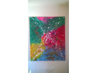 Canvas abstract multicolor painting (1m*1.5m)