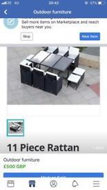11 piece rattan garden furniture