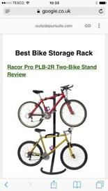 Double bike hanger