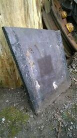 """Slate slab tile 'offcut'. Purple. 15"""" x 17"""" x 1"""" ."""