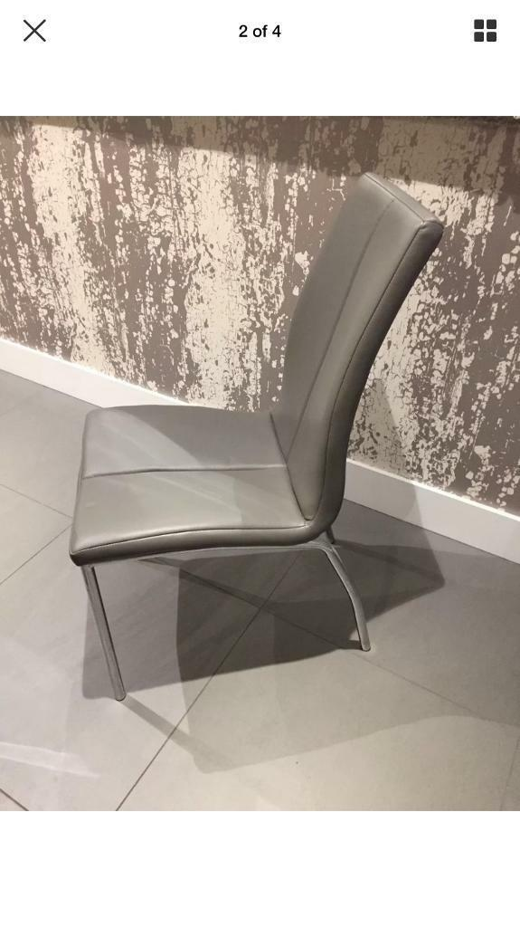 9a9154a9e9 Next Grey Faux Leather Dining Chairs | in Solihull, West Midlands ...