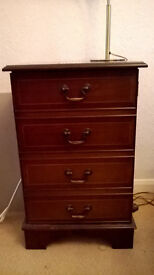 mahogany unit ,suitable for sound system or dvd cd storage (exellent condition )