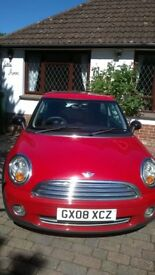 MINI ONE. Gorgeous little red mini. FSH. lovely to drive. panoramic sunroofs front and back.