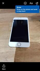 I phone 6 unlocked rose gold boxed 16 gb. Gc