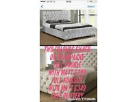 Crushed velvet beds from £169 with memory mattress included Free pillows