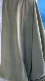 """Pale green 100% cotton velvet curtain lined ONE curtain 59"""" by 114"""""""
