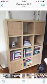 Box shelving unit with 4 cupboards