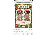 2 Neighbourhood weekender tickets