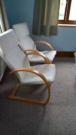 Two Cream Chairs