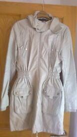 Cream leatherlook jacket from Next size 10