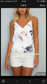 Ladies floral print v neck cami top BNWT (sizes small & Med)