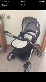 Silvercross Pioneer Pram, Pushchair and Car Seat with accessories