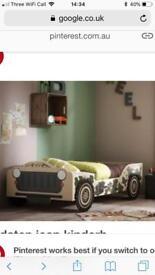 Kids safari jeep bed