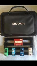Mooer mini guitar pedalboard for gear or pedals