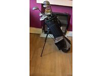Golden Bear Golf Clubs and Bag with Trolley
