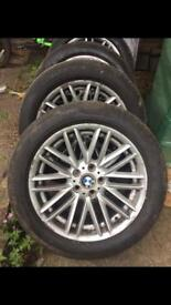 Bmw 7series wheels 5x120pcd in great condition with run flat tyres