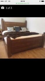 Kingsize oak bed
