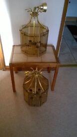 2x Brass Pendant Lanterns