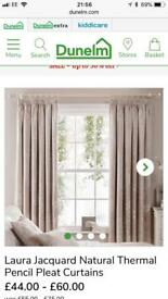 Natural Curtains from Dunelm