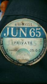 Collectable tax disc